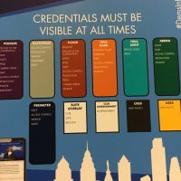 Credential Information inside the Wells Fargo Center