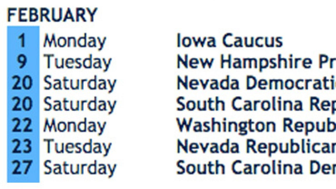 DemDaily: Updated Presidential Primary & Caucus Calendar