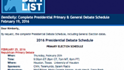 DemDaily: Complete Presidential Primary & General Debate Schedule