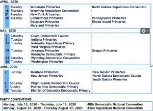 Election Calendar 2020 DemDaily: The 2020 Presidential Calendar!   Demlist