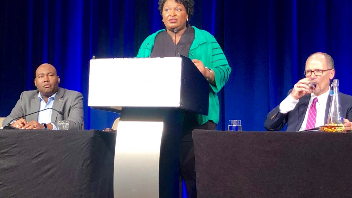 DemDaily: Abrams Rocks The House