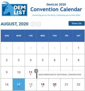 DemDaily: Call to the Convention Calendar