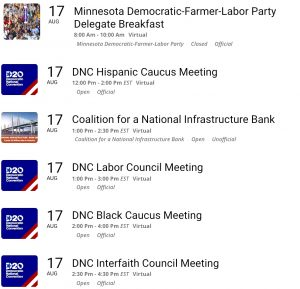 DemList: Convention Caucuses and Councils Up!