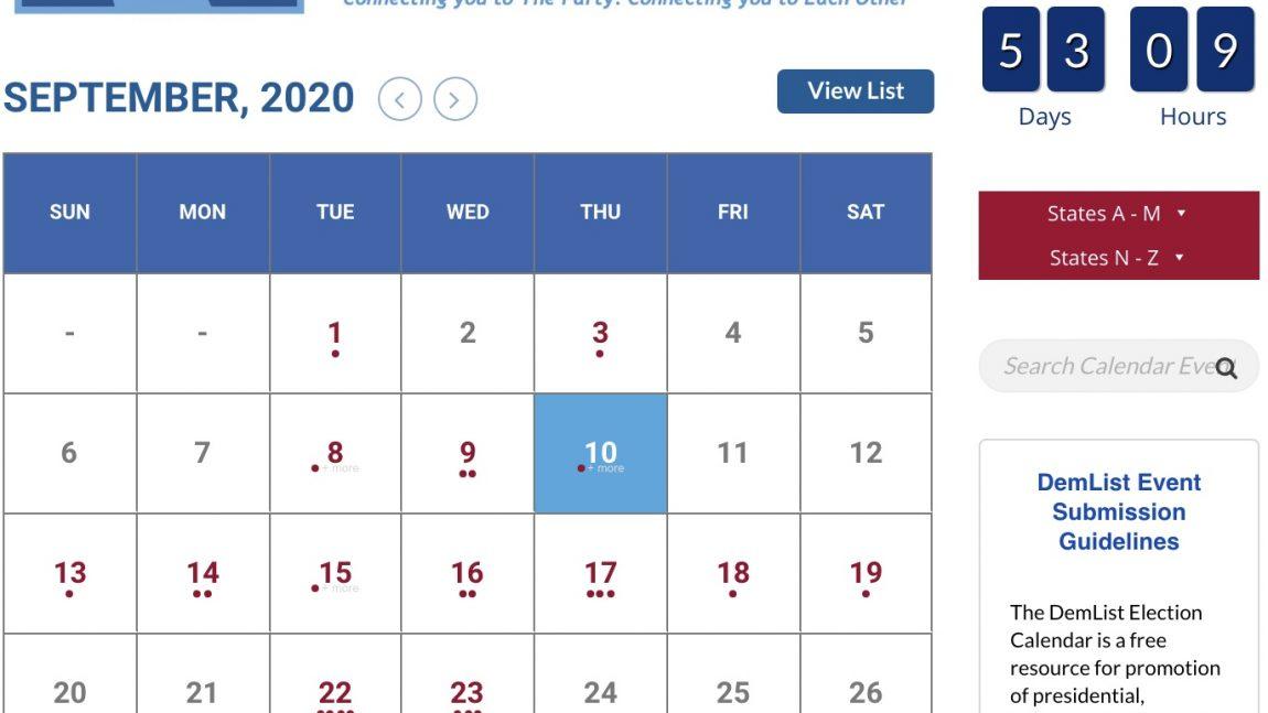 DemDaily: The DemList Election Calendar is Up!