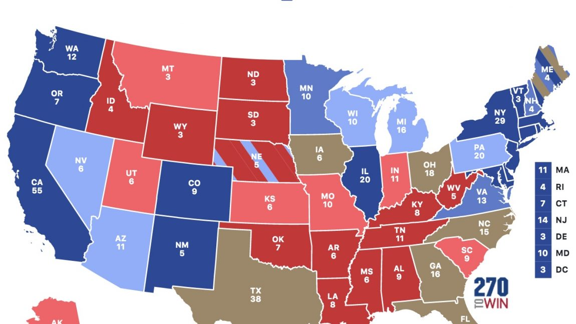 DemDaily: Status of the States: The Electoral College Count