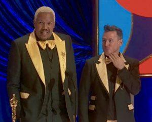 Travon Free and Martin Desmond Roe at Oscars