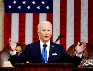 President Joe Biden speaking to Congress