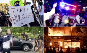 Four images from nationwide protests in the wake of George Floyd's death