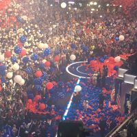 The Balloons Fall as Hillary Clinton accepts her Party's Nomination for President of the United States!